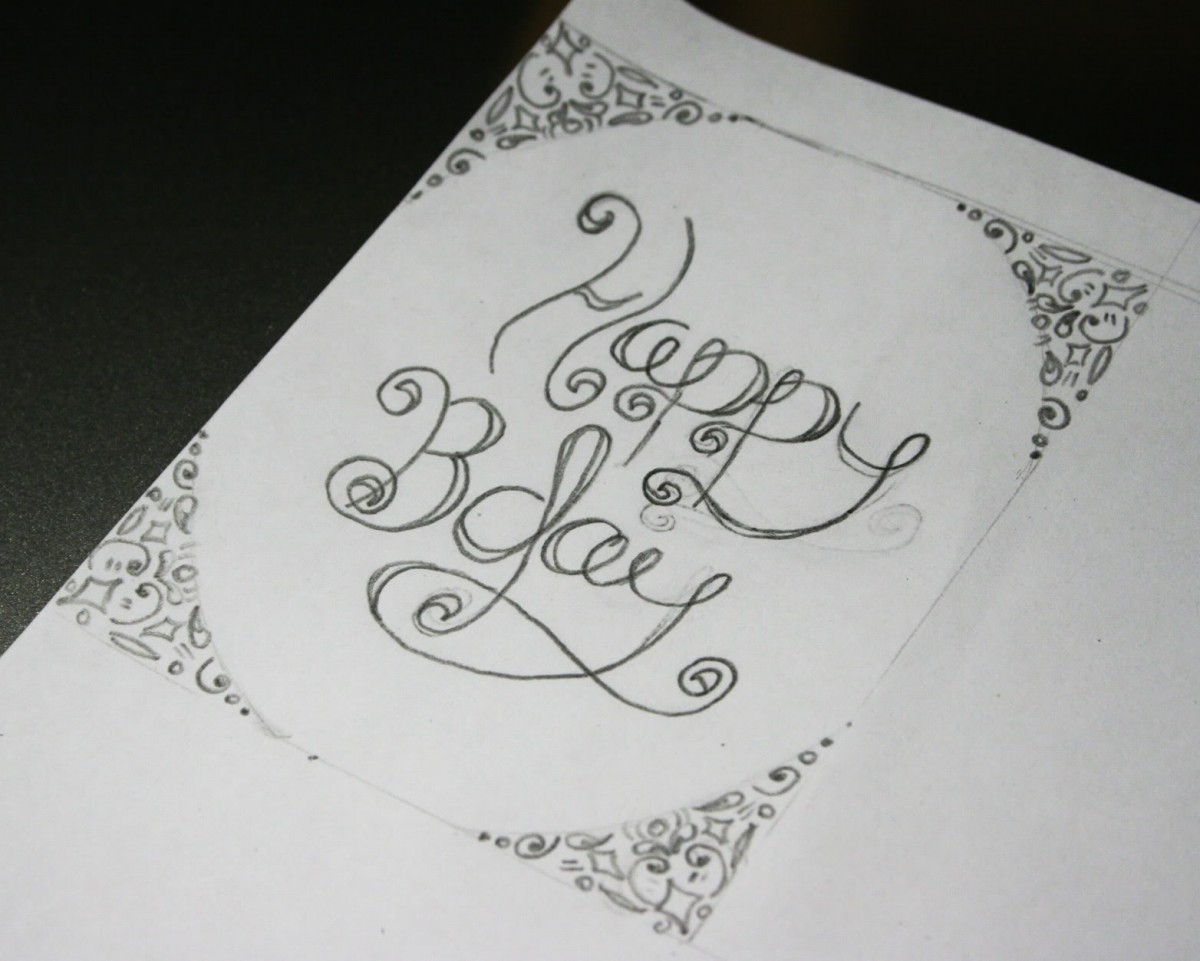 birthday card design drawing ; drawn-birthday-birthday-greeting-15
