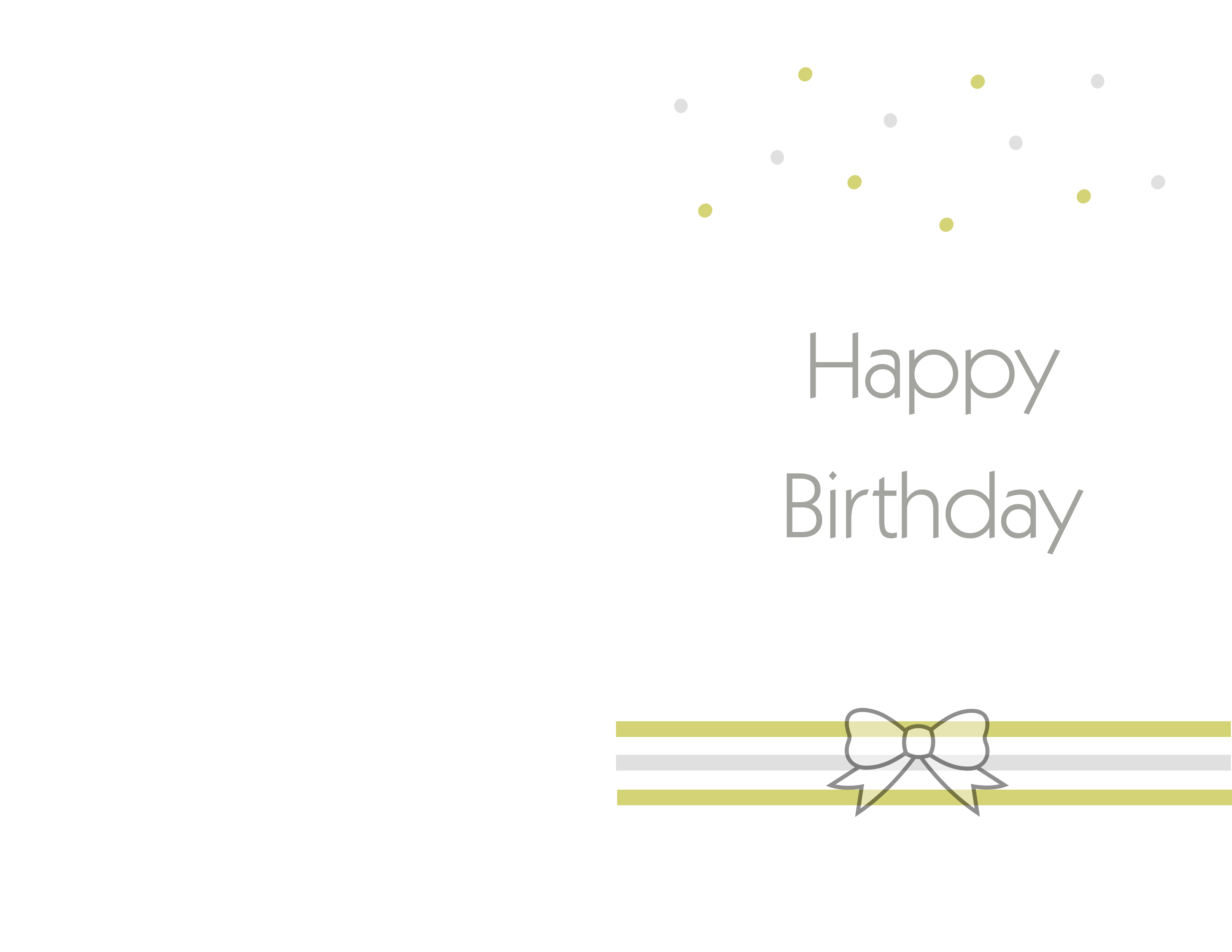 birthday card design printable ; filed-simple-vintage-design-soft-green-with-ribbon-image-decorations-happy-birthday-grey-fonts-design-birthday-card-printable