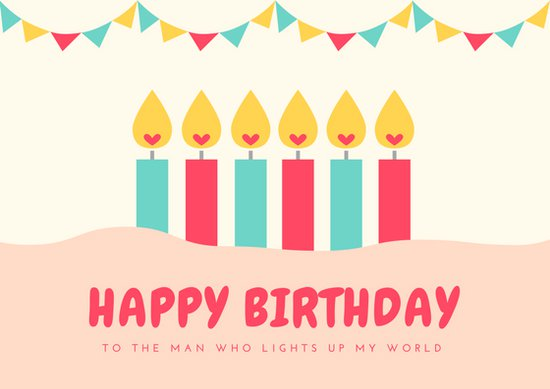 birthday card design template ; canva-heart-candles-husband-birthday-card-MAB6ARSozwA