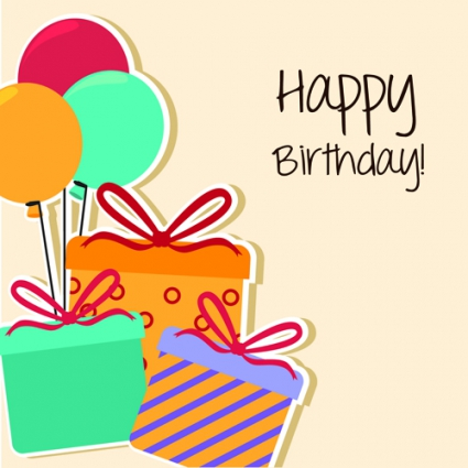 birthday card design template ; cartoon-style-happy-birthday-greeting-card-template