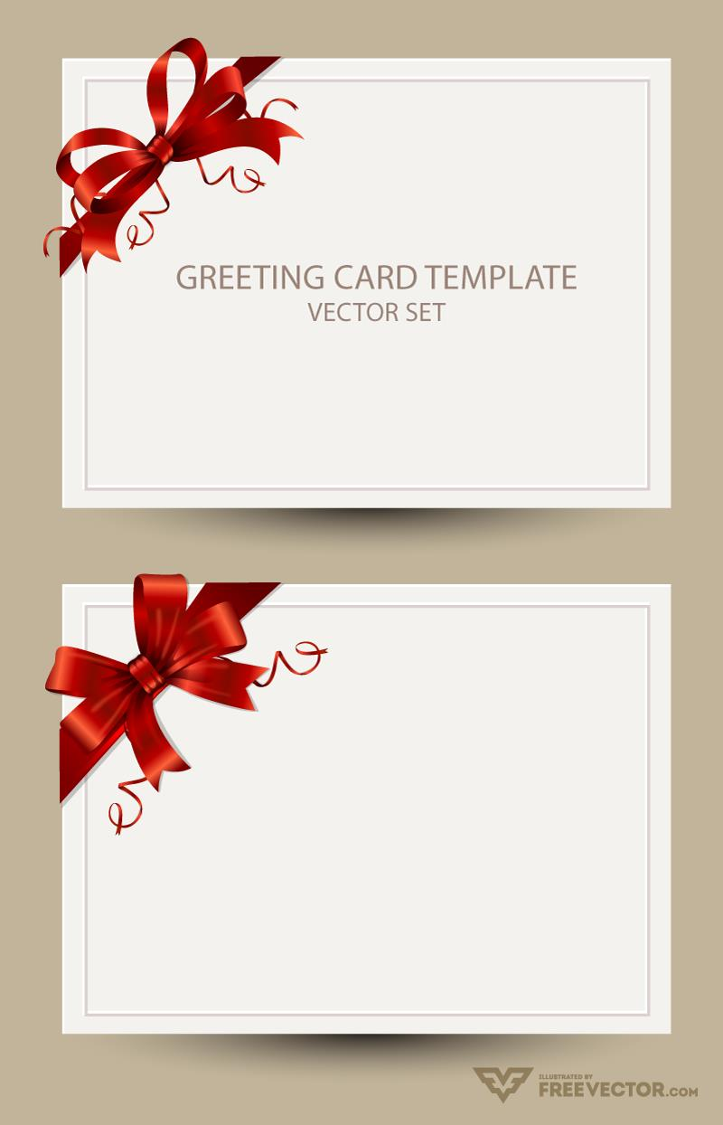 birthday card design template ; greeting-card-templates-bow-preview
