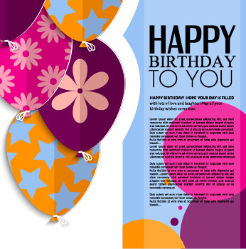 birthday card design template ; template_birthday_greeting_card_vector_549391