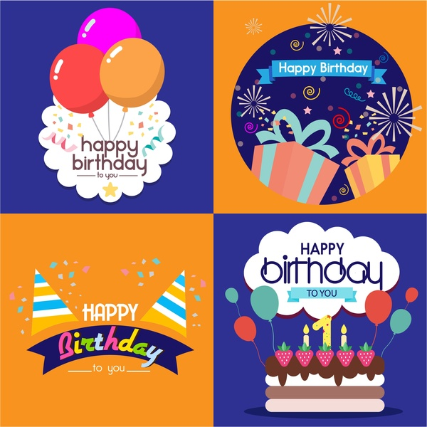 birthday card design template free ; birthday_card_templates_isolated_with_various_styles_6825213