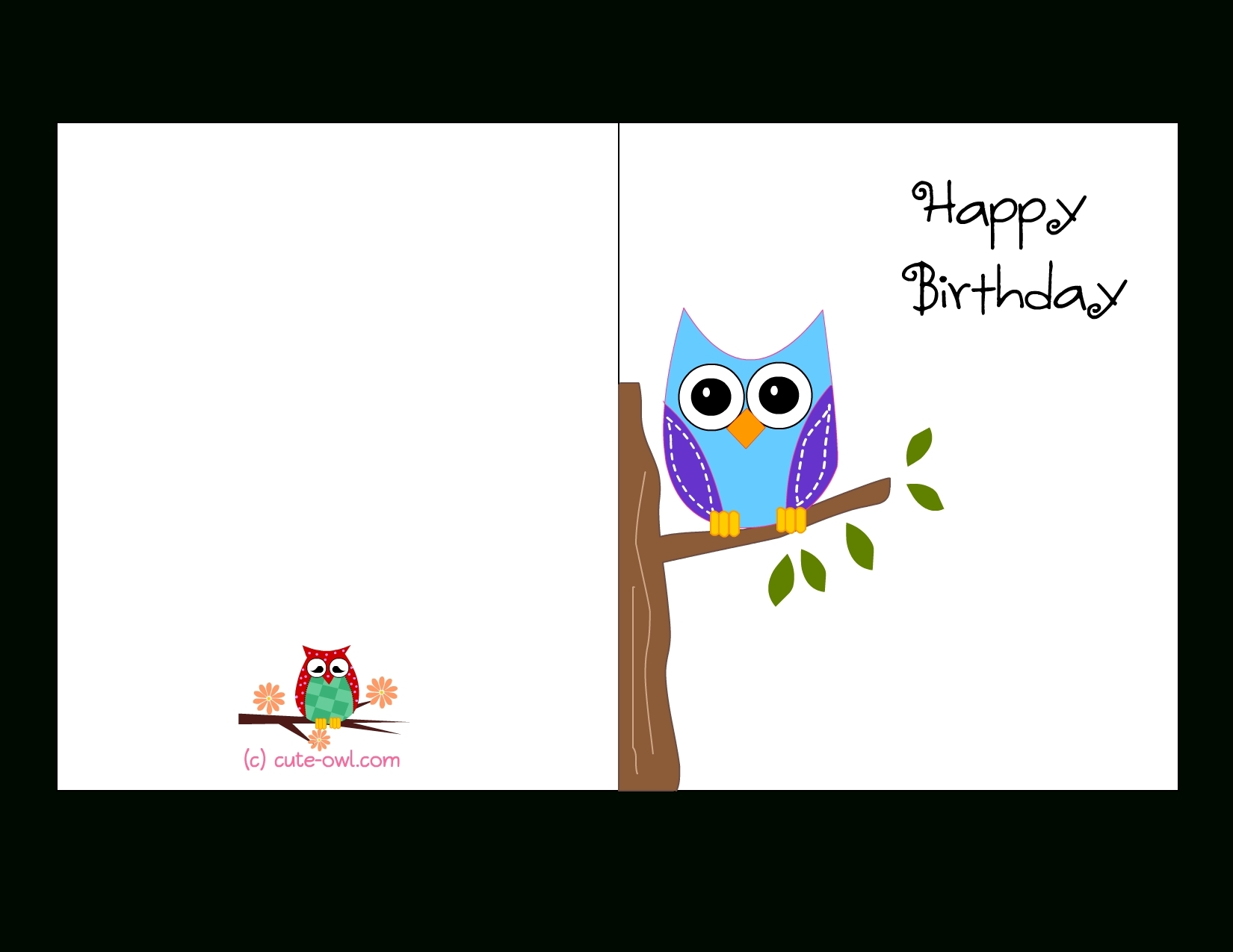 birthday card design template free ; free-printable-cute-owl-birthday-cards-throughout-birthday-card-with-regard-to-birthday-card-template-printable-girl