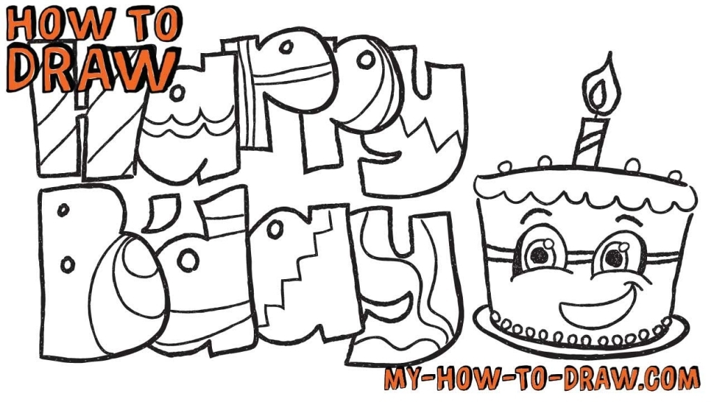 birthday card drawing ideas ; how-to-draw-happy-birthday-cards-easy-step-step-drawing