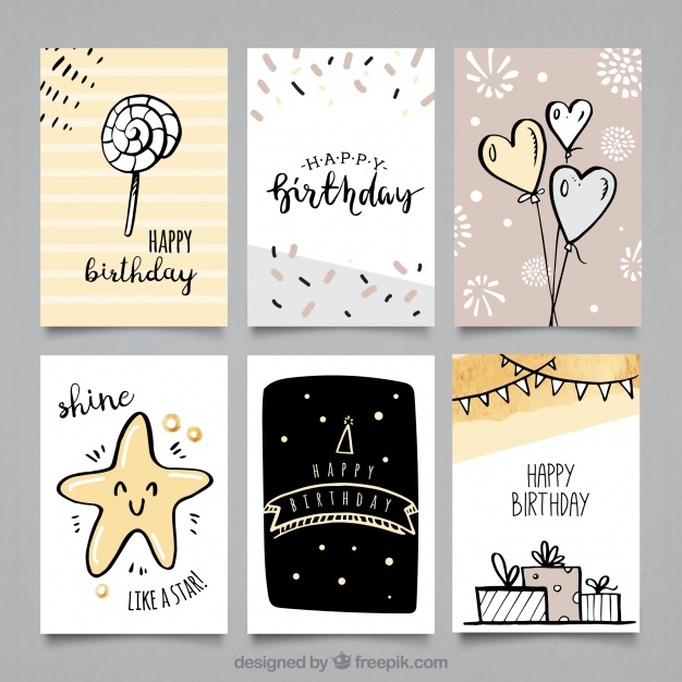 birthday card drawings ; pack-of-birthday-cards-with-cute-drawings_23-2147646252