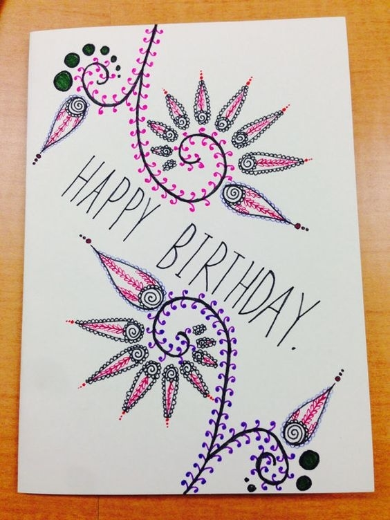 birthday card drawings ; related-image-very-simple-cards-pinterest-pertaining-to-easy-birthday-card-drawings