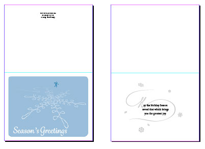 birthday card indesign template ; 20141218-greetingcard4