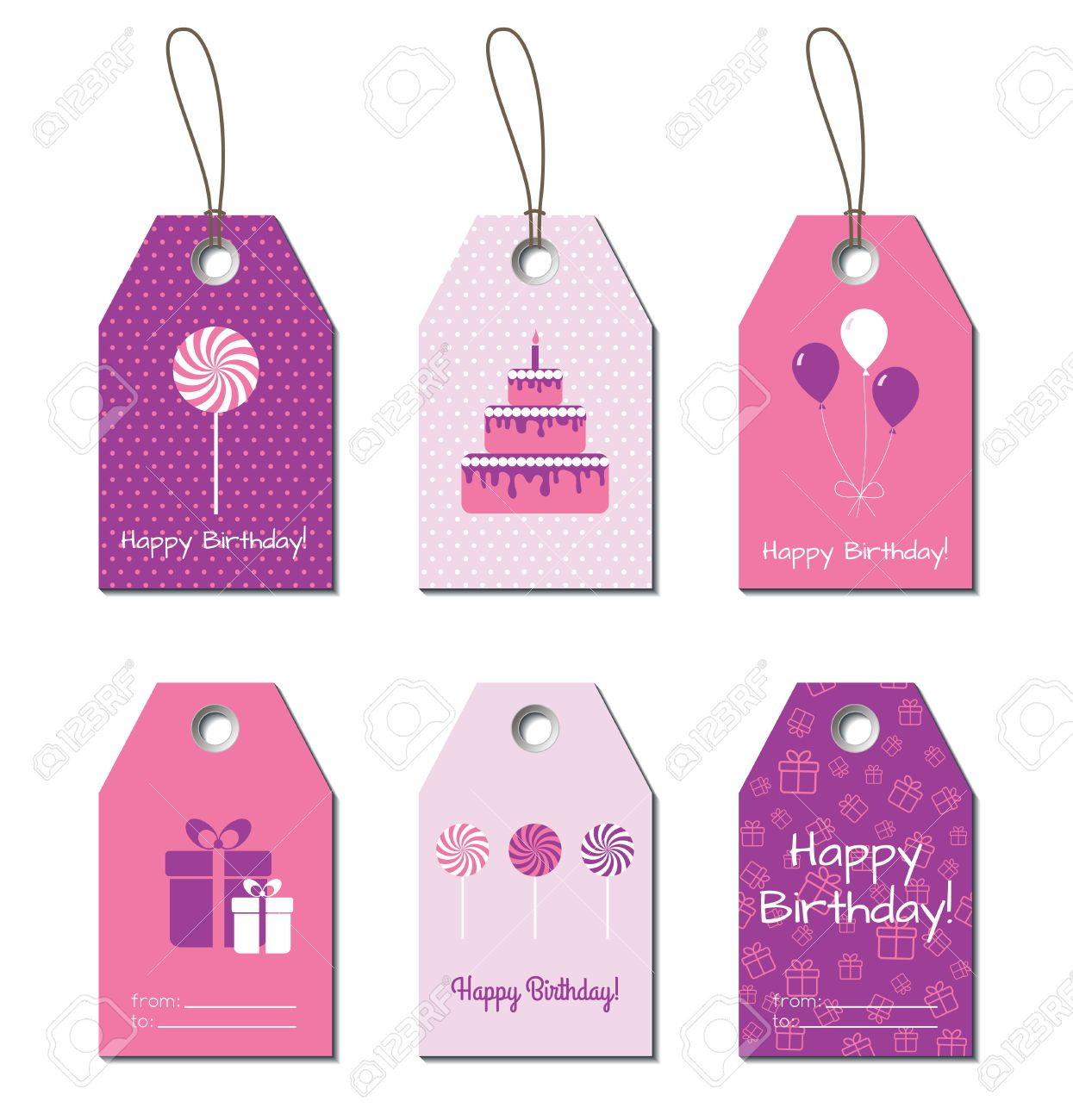 birthday card labels ; 53436025-happy-birthday-tags-birthday-greetings-small-gift-cards-labels-for-birthday-gifts-design-Stock-Photo