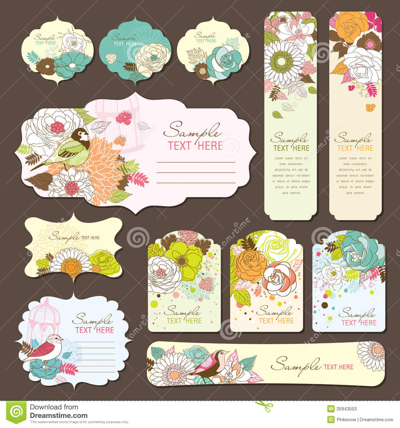 birthday card labels ; greeting-card-gift-tag-design-25943553