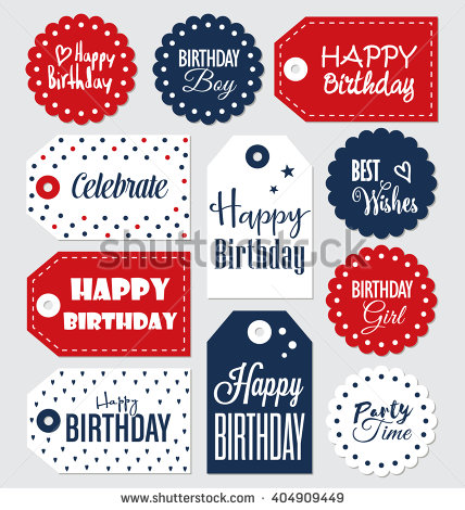 birthday card labels ; stock-vector-set-of-birthday-gift-tags-typographic-vector-design-with-illustrations-and-wishes-happy-birthday-404909449