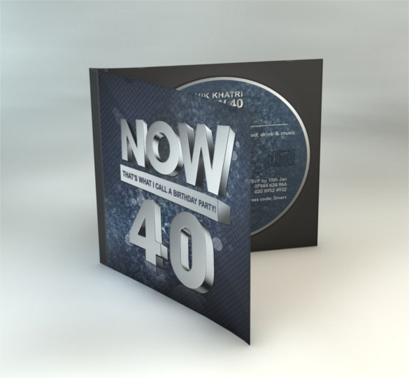 birthday cd label template ; 40th-Birthday-CD-Cover-Style-Template-Download