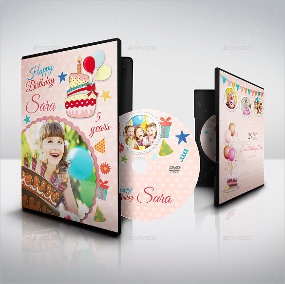 birthday cd label template ; Birthday-Party-DVD-Cover-and-DVD-Label-Template-Sample