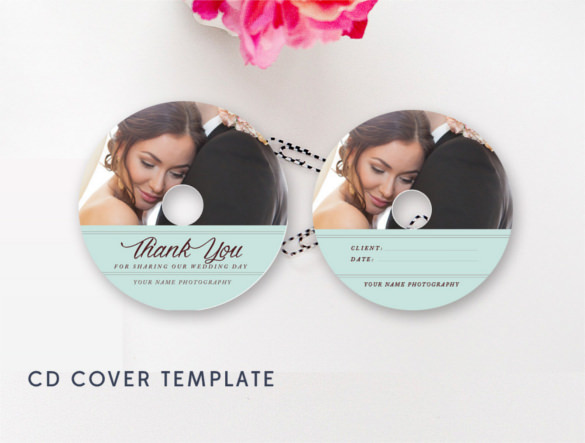 birthday cd label template ; Modern-Wedding-CD-Cover-Template-Instant-Download