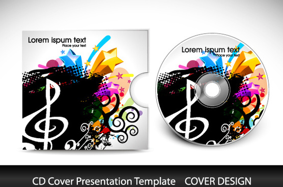 birthday cd label template ; cd_cover_presentation_vector_template_571598