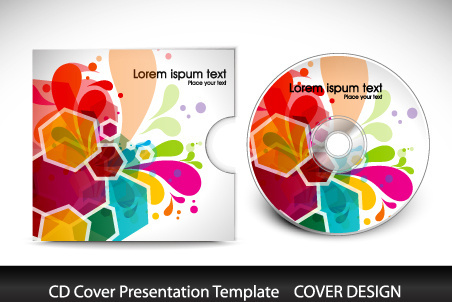 birthday cd label template ; cd_cover_presentation_vector_template_571604