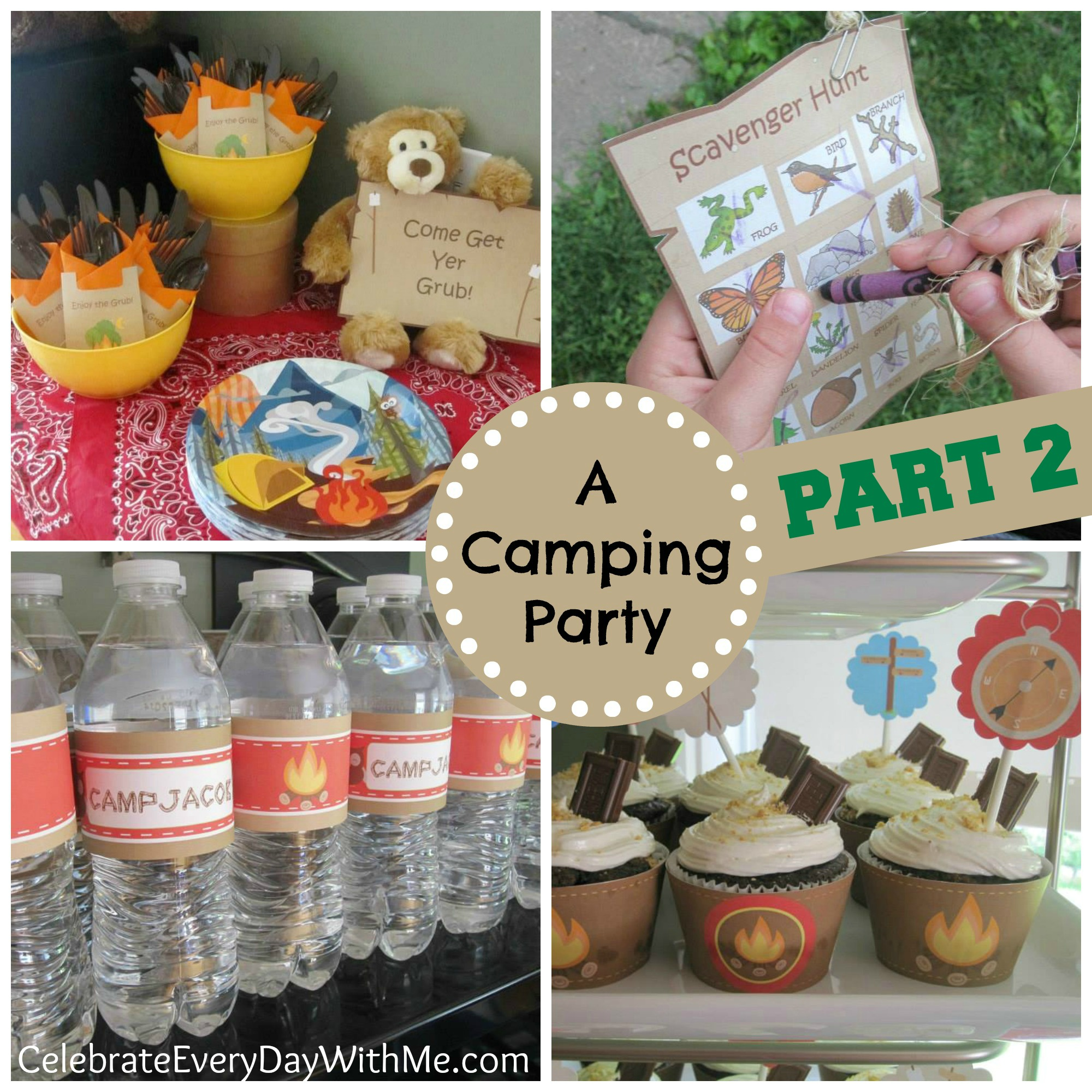birthday celebration activities ; Camping-Birthday-Party-part-2