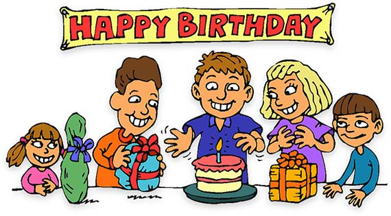 birthday celebration clipart ; 8093