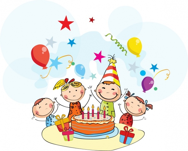 birthday celebration clipart ; birthday_cartoon_268669