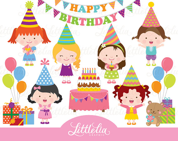 birthday celebration clipart ; il_570xN