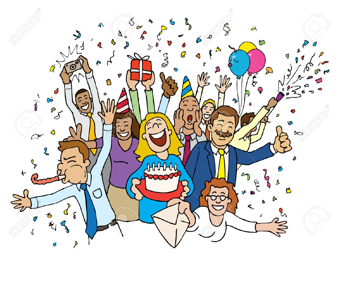 birthday celebration clipart ; office-celebration-cartoon-birthday-celebration-clipart-1300_1088