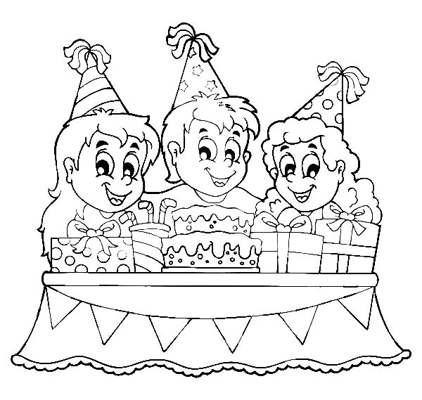 birthday celebration drawing ; How-to-Draw-Birthday-Party-Coloring-Pages