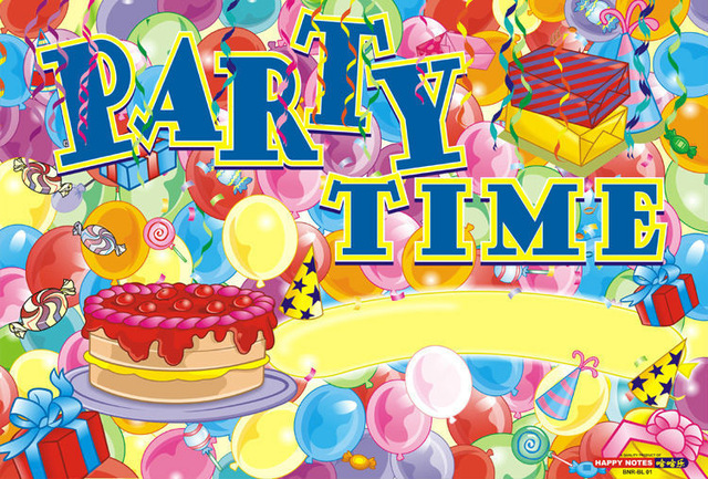 birthday celebration wallpaper ; 30PCS-Party-Time-Theme-Birthday-Celebration-Poster-Party-Supplies-Decorative-Wallpaper-Joy-Party-Free-Shipping