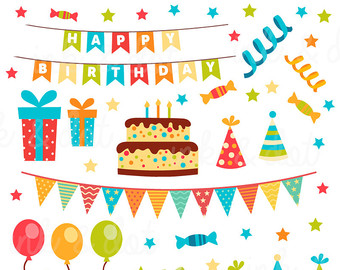birthday clipart ; il_340x270