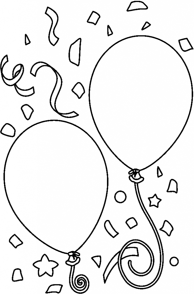 birthday clipart black and white ; balloon-clipart-black-and-white-11