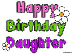 birthday clipart for daughter ; 1726831