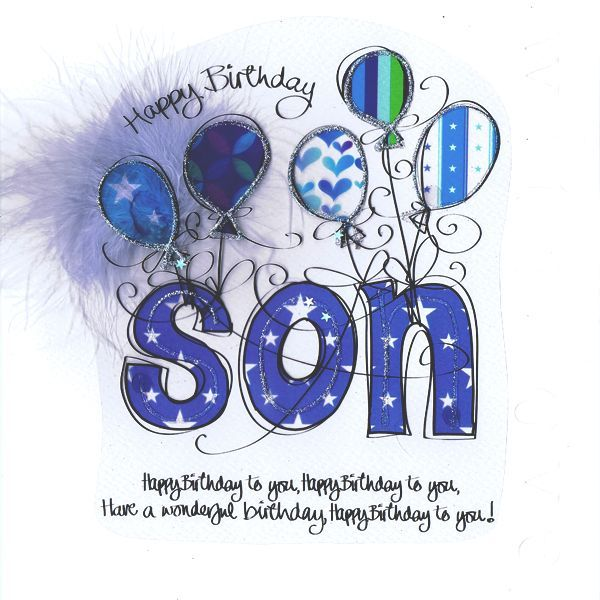 birthday clipart for son ; 395293
