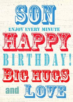 birthday clipart for son ; 395312