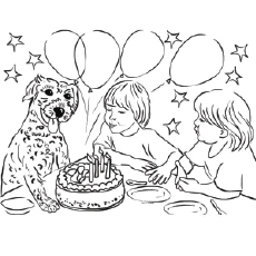 birthday coloring pages for kids ; The-Blowing-the-Candles-coloring-page