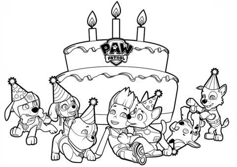 birthday coloring printables ; ryders-birthday-coloring-page