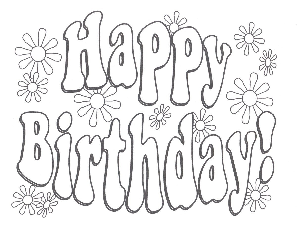 birthday coloring sheets ; Free-Happy-Birthday-Coloring-Pages-to-Print
