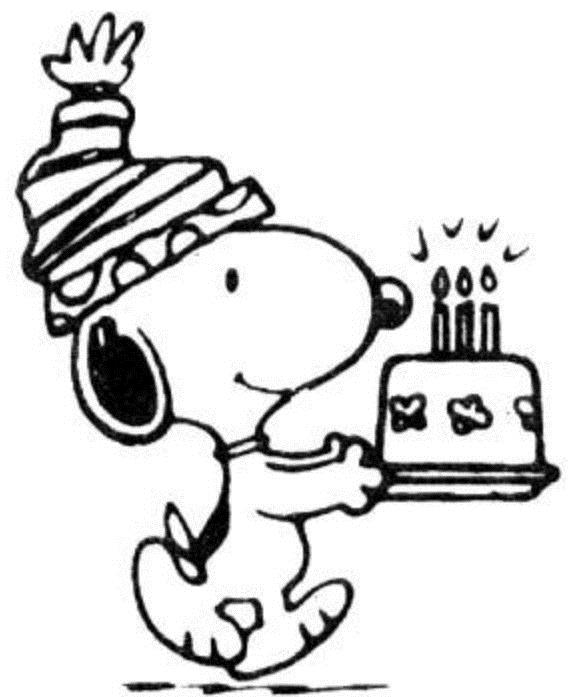 birthday coloring sheets ; Snoopy-Birthday-Coloring-Pages