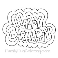 birthday coloring sheets ; happy-birthday-outlined-words-small