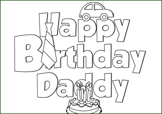 birthday coloring sheets free printable ; 10-happy-birthday-daddy-coloring-pages