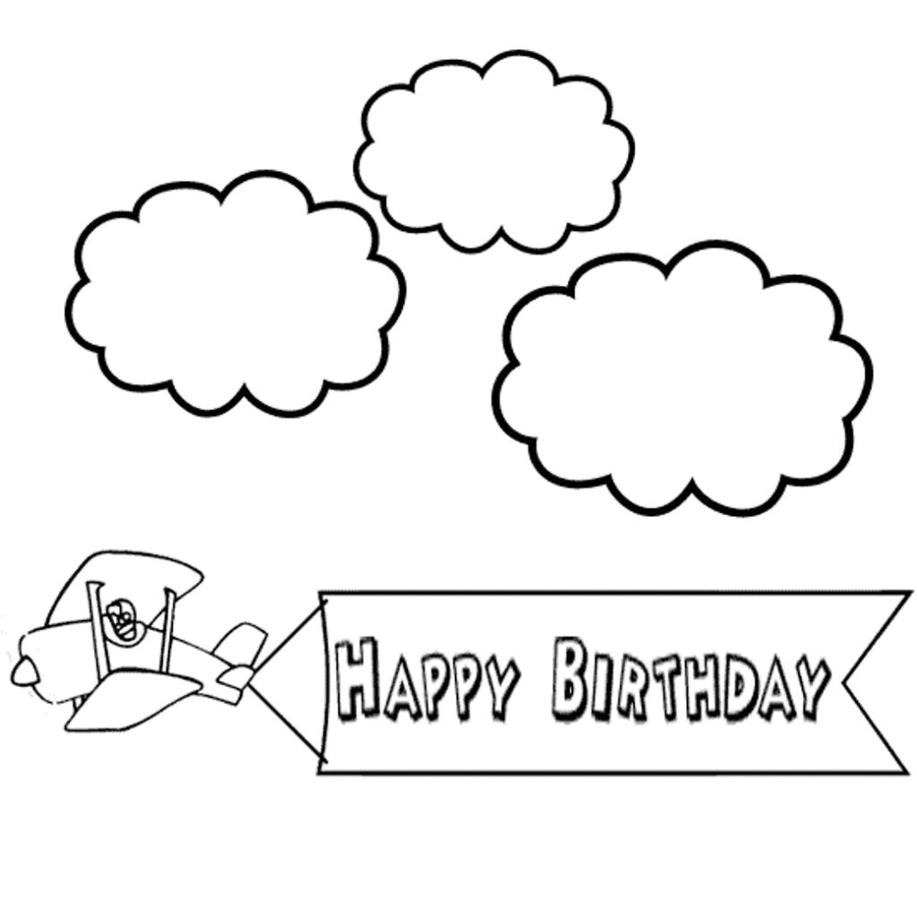 birthday coloring sheets free printable ; plane-greetings-birthday-coloring-pages