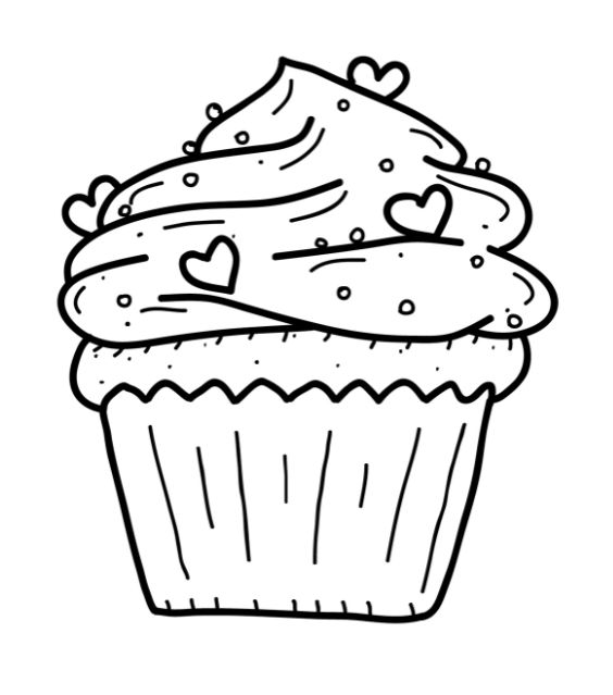 birthday cupcake coloring page ; 752f51db92d34659bce47f756d8924ad--cupcake-template-cupcake-party