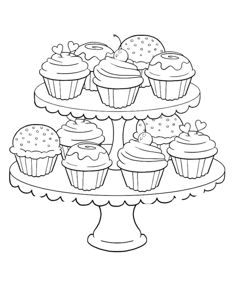 birthday cupcake coloring page ; Birthday-Cupcake-Coloring-Pages-for-Kids-7gb41