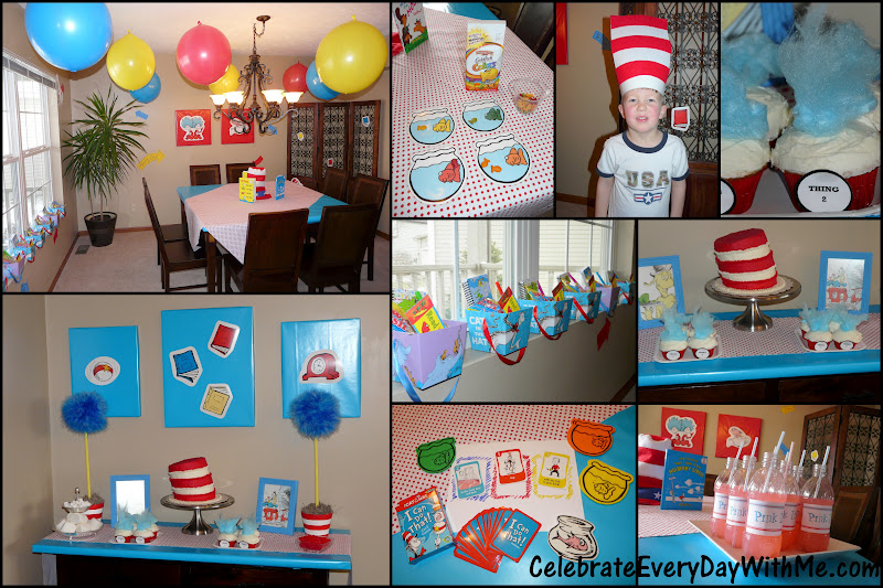 birthday day activities ; Dr+Seuss+Party+Collage