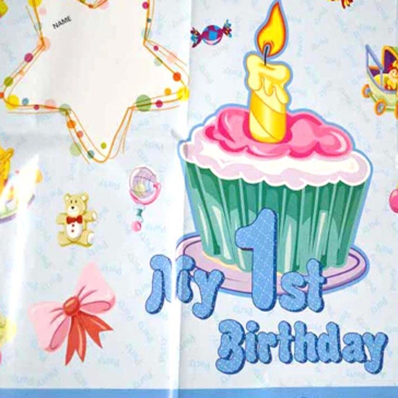 birthday decoration wallpaper ; Birthday-supplies-posters-decorate-birthday-party-supplies-baby-one-full-year-of-life-theme-banner-wallpaper
