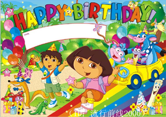 birthday decoration wallpaper ; can-write-name-Birthday-decoration-wallpaper-birthday-cartoon-dora-87-56CM
