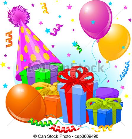 birthday decorations clipart ; birthday-gifts-and-decoration-eps-vector_csp3809498