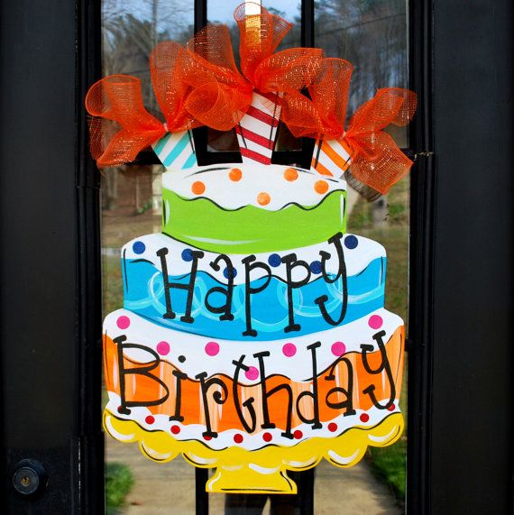 birthday door sign ; 0f17b375b2cf91a272b0794e68a70ffe--wooden-door-hangers-wooden-doors