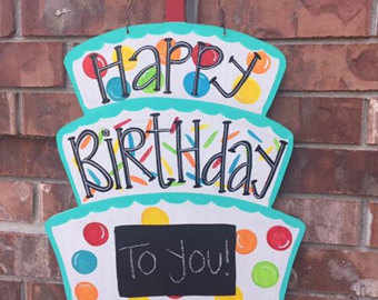 birthday door sign ; il_340x270