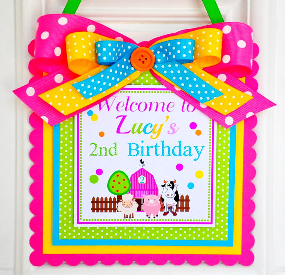 birthday door sign ; il_570xN