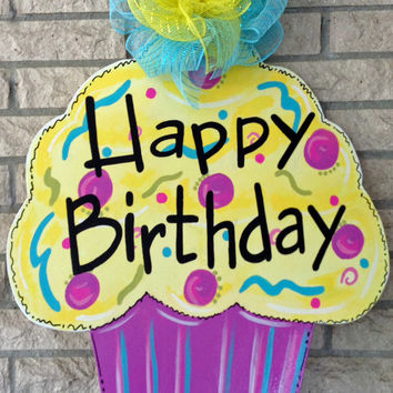 birthday door sign ; x354-q80