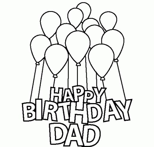 birthday drawing images ; happy-birthday-dad-coloring